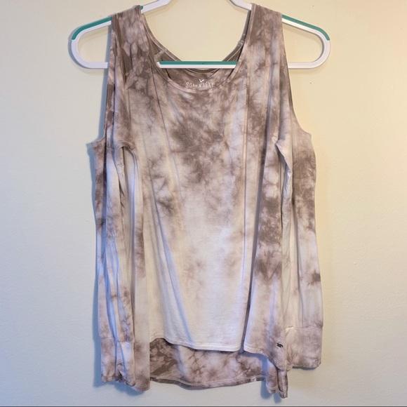 AE🦅 Off-the-Shoulder Tie-Dye LS Shirt